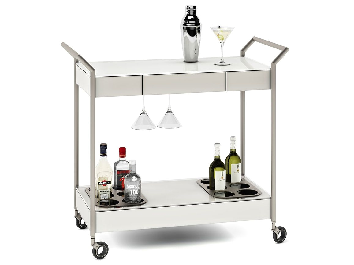 verra glass bar cart 5640 bdi