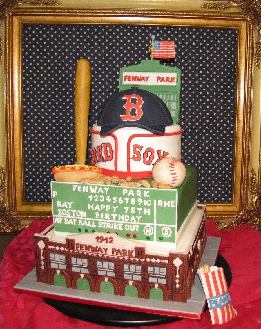 100 edible fenway park baseball stadium themed cake fondant and gum paste