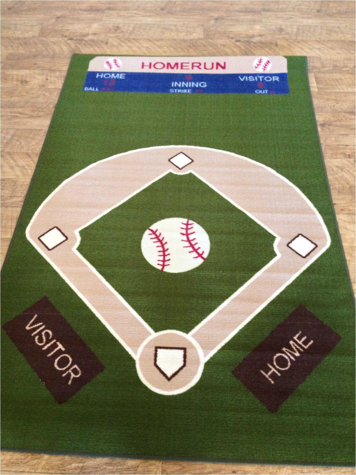 Baseball Field area Rug Baseball Field Rug Rugs Pinterest Baseball Field Fields and Room