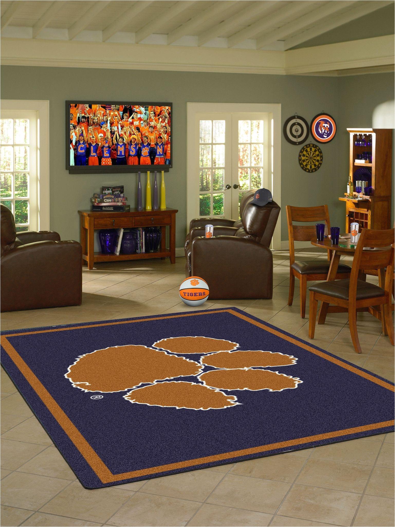 clemson area rug
