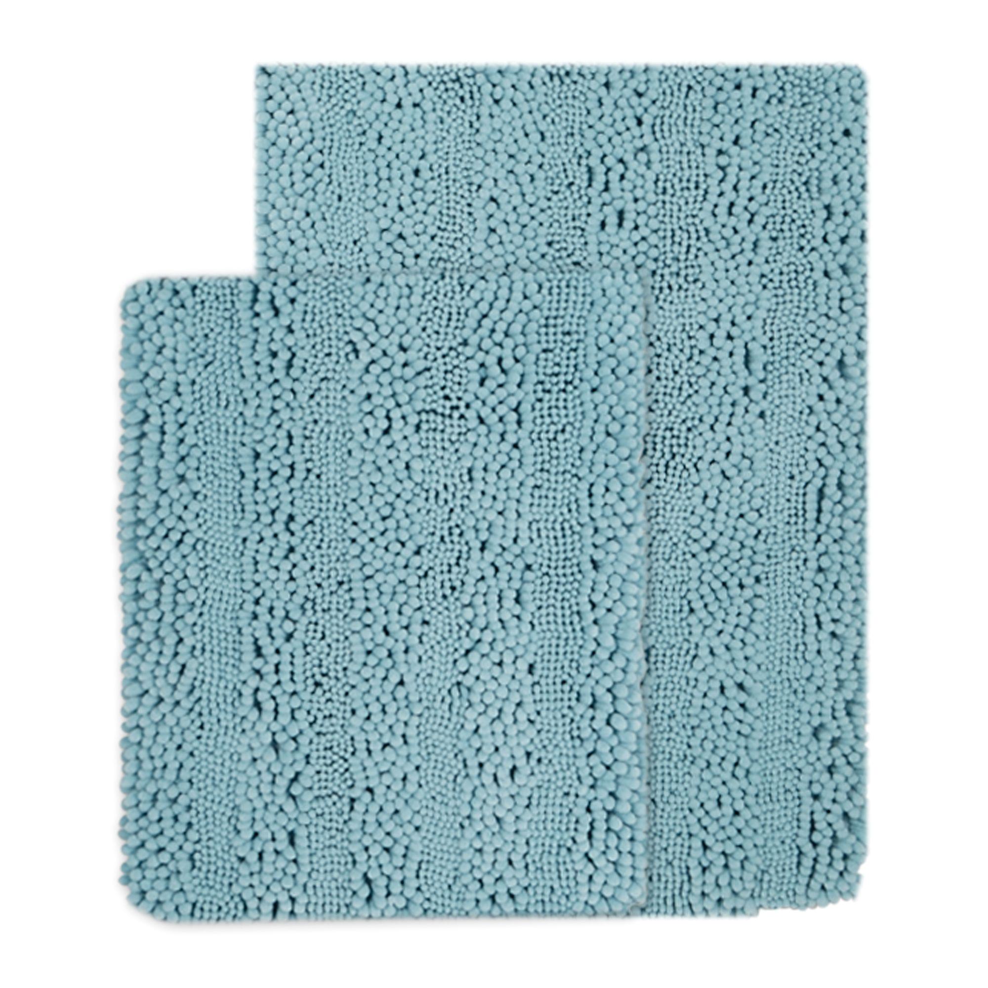 2 piece san remo chenille fingers bath rug set blue gordmans