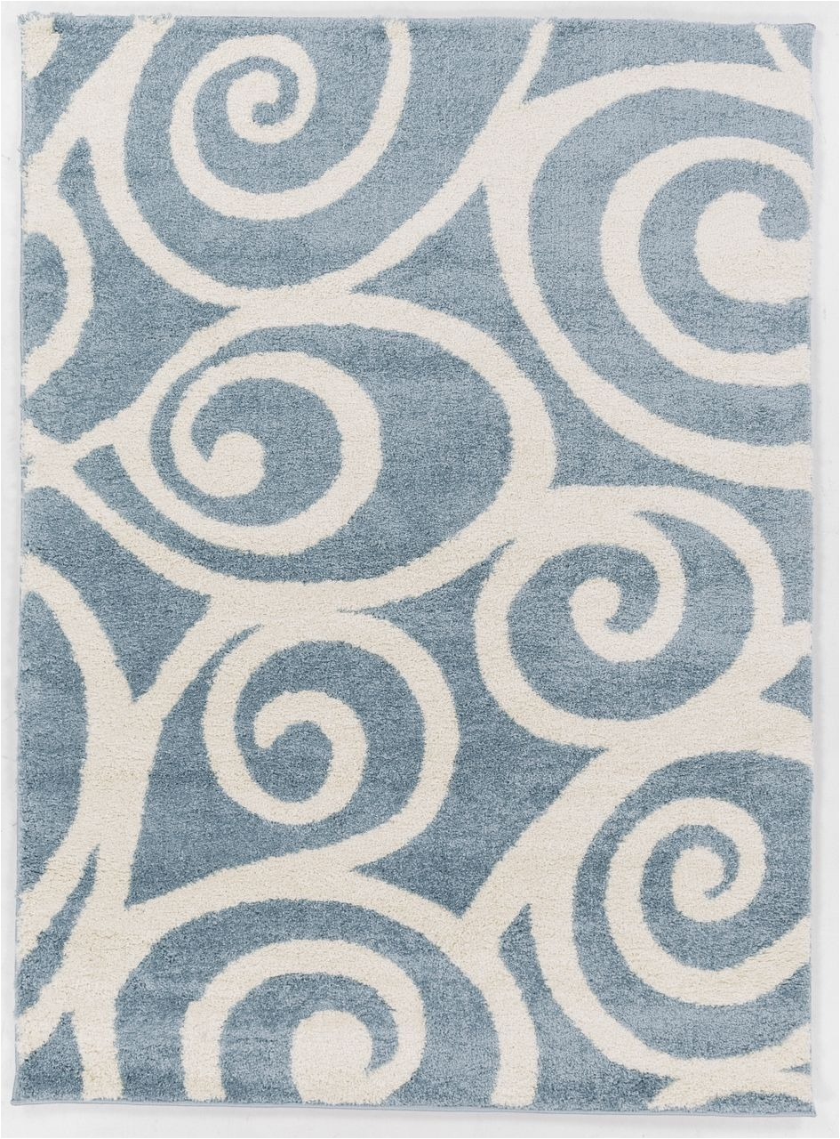 enchanting plush area rug at an affordable price with a modern coastal appeal in soft light blue shades