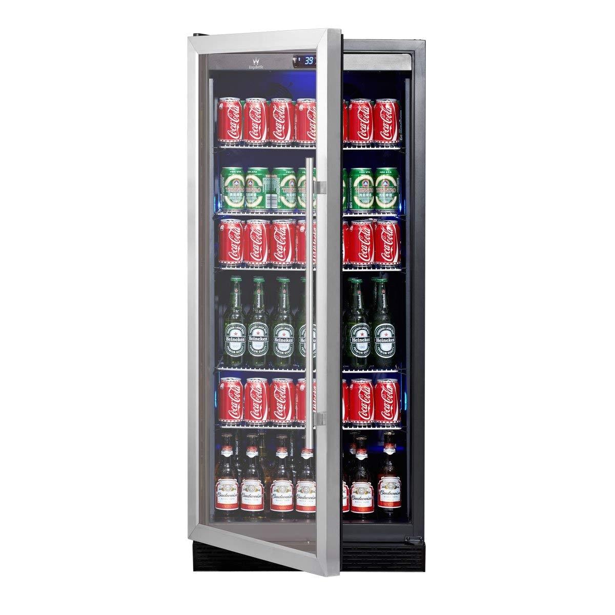 Beer Glass Rack for Freezer Amazon Com Beverage Cooler Beer Cooler Upright Stainless Steel