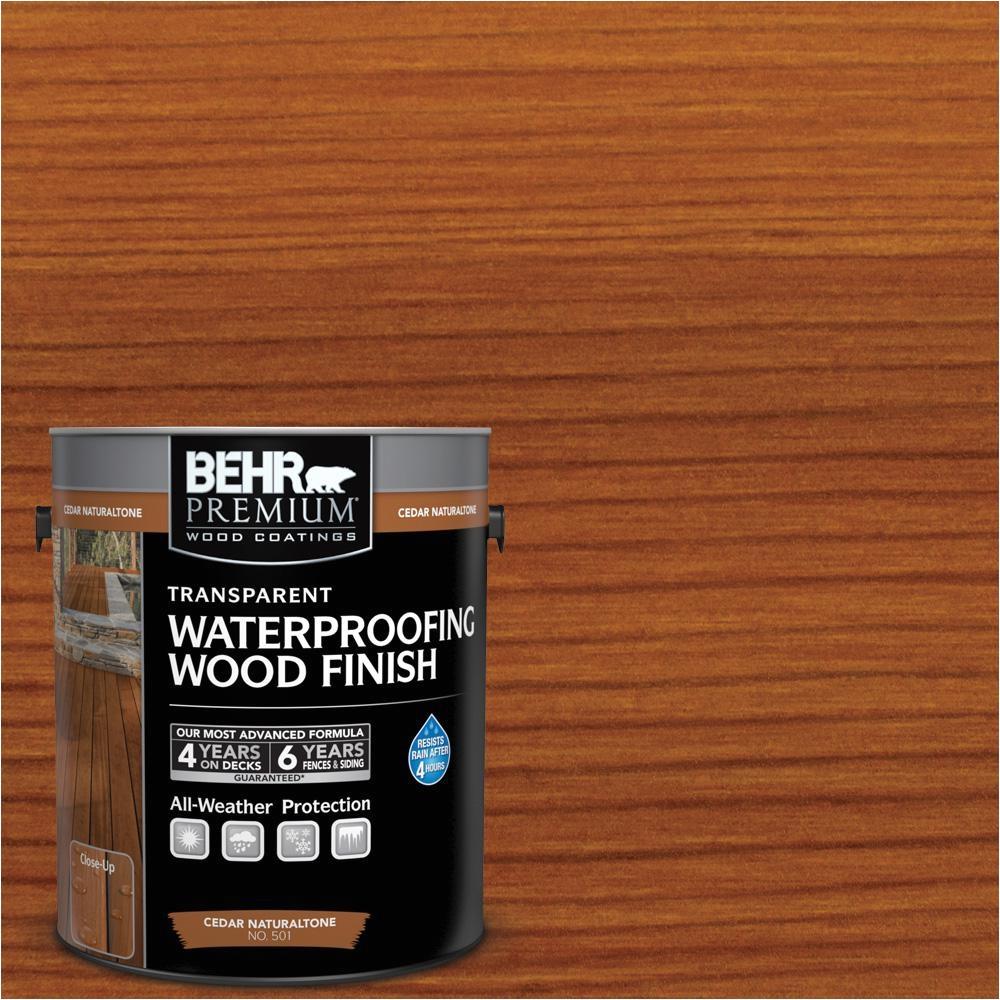 1 gal cedar naturaltone transparent waterproofing exterior wood finish