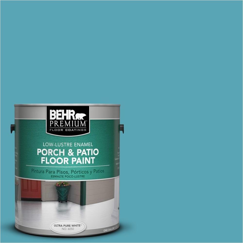 behr premium 1 gal m470 5 explorer blue low lustre porch and patio floor paint 630001 the home depot