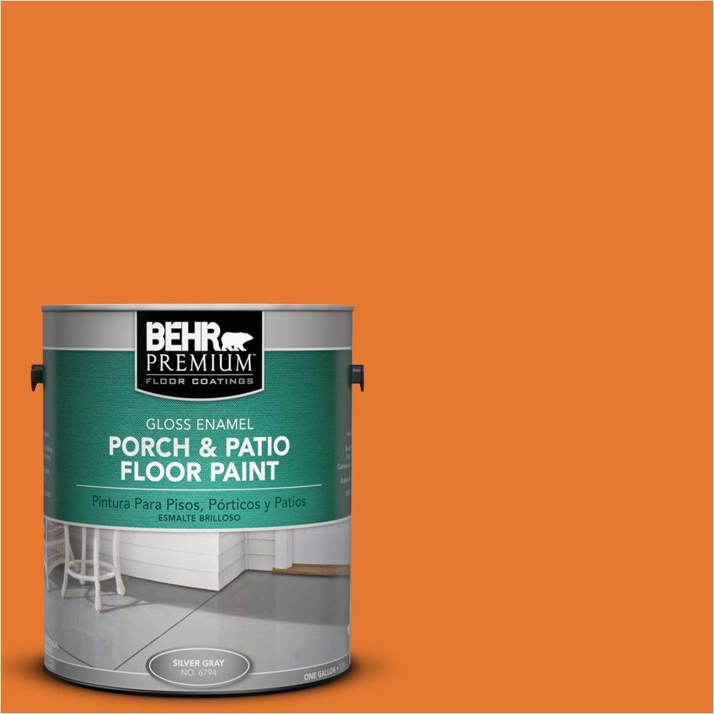 behr premium 1 gal osha 3 osha safety orange gloss porch and patio floor paint osha 3
