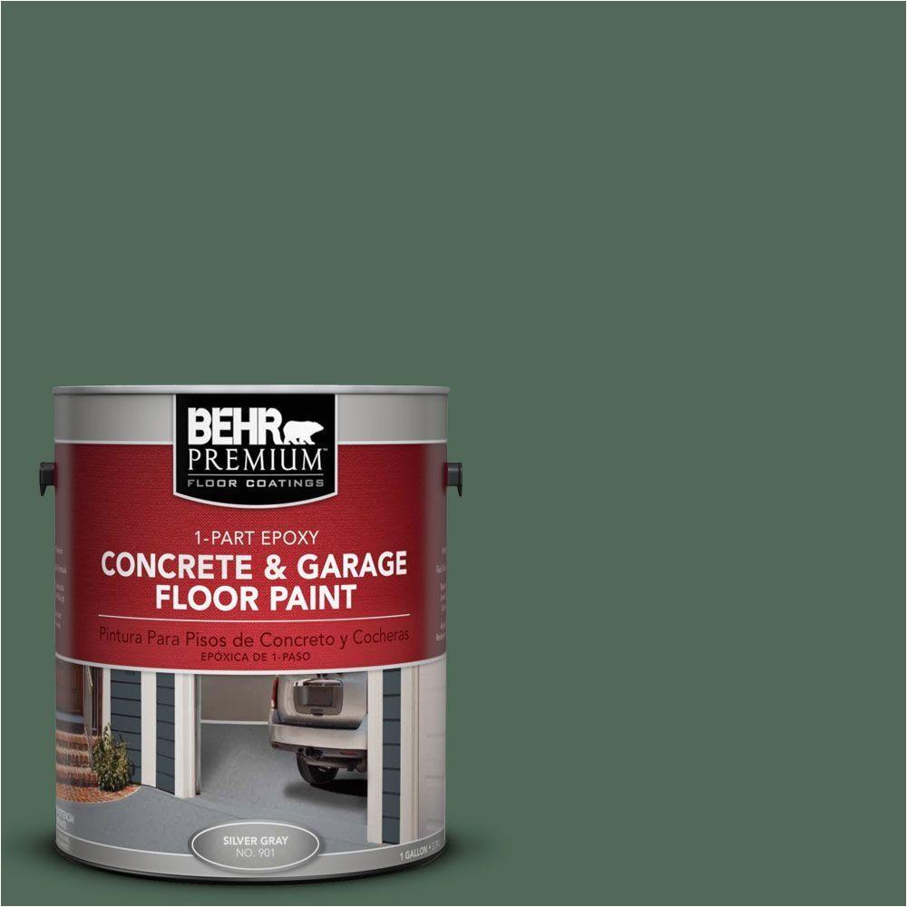 behr premium 1 gal pfc 40 green 1 part epoxy concrete and