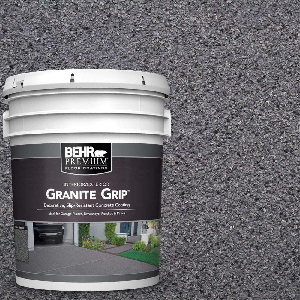behr premium 5 gal gg 08 galaxy quartz decorative concrete floor coating