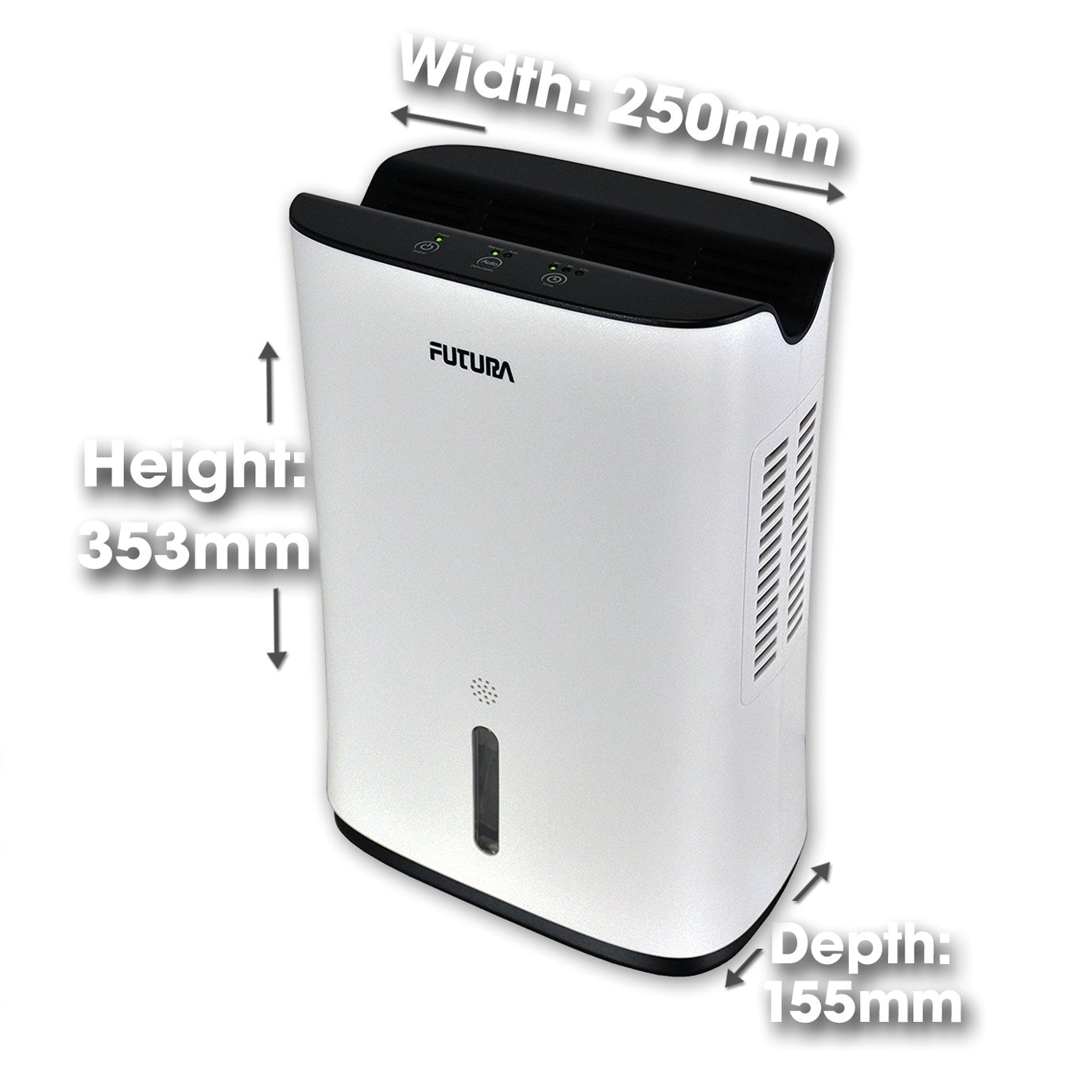futura direct futura 2l compact portable air dehumidifier for mould