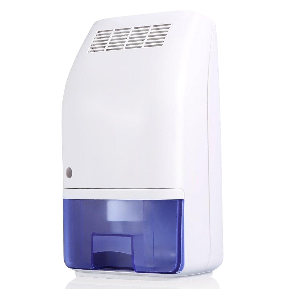 amazon com dehumidifier 700ml large tank compact small auto min dehumidifier up to 215 square feet per day ultra quiet lightweight portable dehumidifier