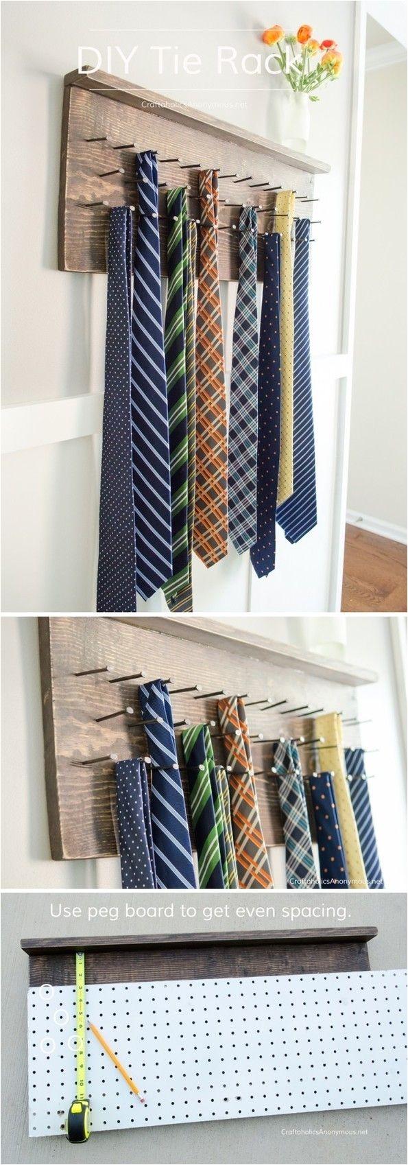 diy tie rack tutorial great idea for dad lumberprojects
