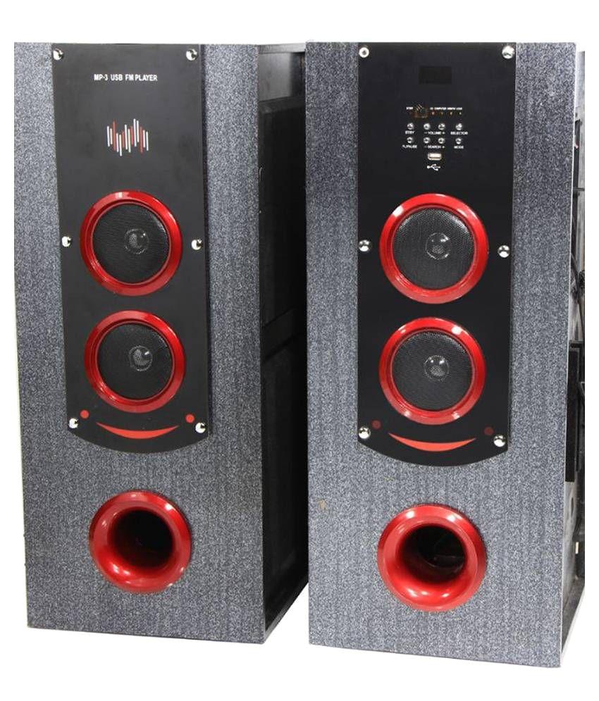 p tech t 12000 floorstanding speakers black
