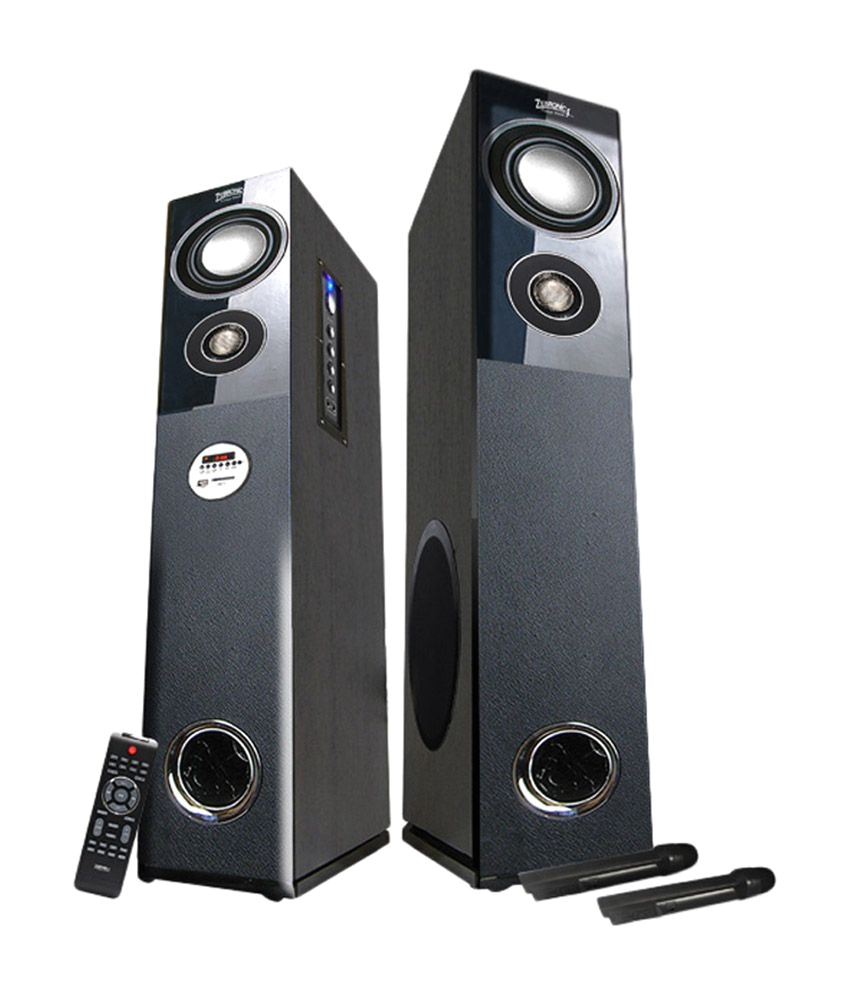 Best Floor Standing Bluetooth Speakers Buy Zebronics Zeb Bt7500rucf Floorstanding Speakers Black Online