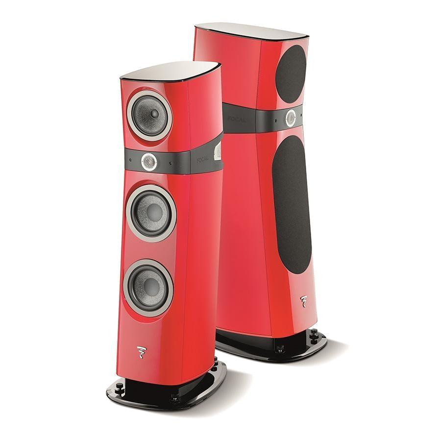 focal sopra no 2 floor standing speakers gloss red