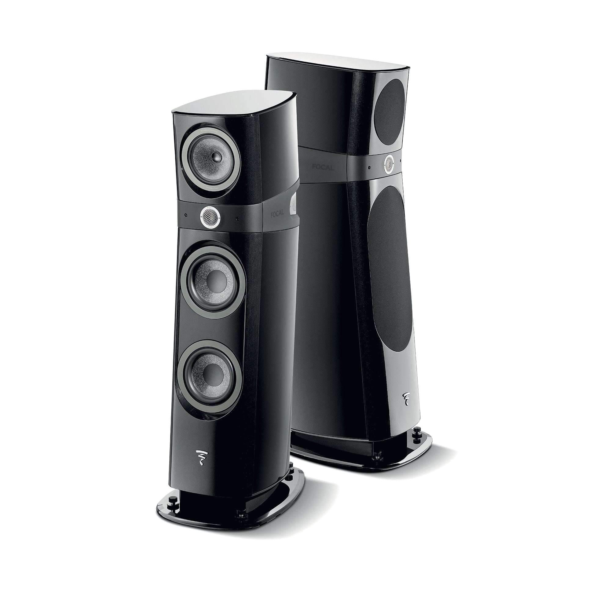 focal sopra no 2 floor standing speakers gloss black