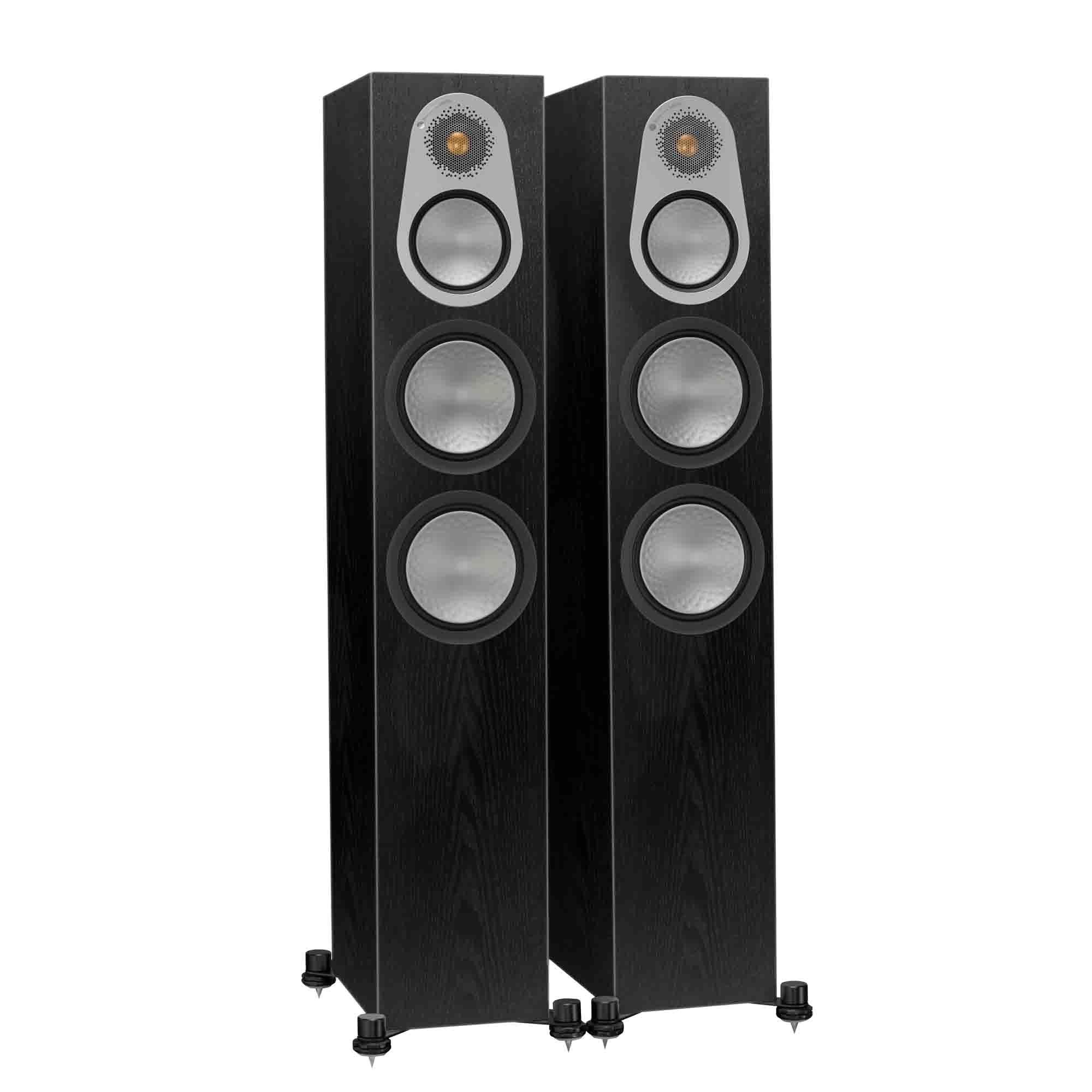 monitor audio silver 300 floor standing speakers black oak