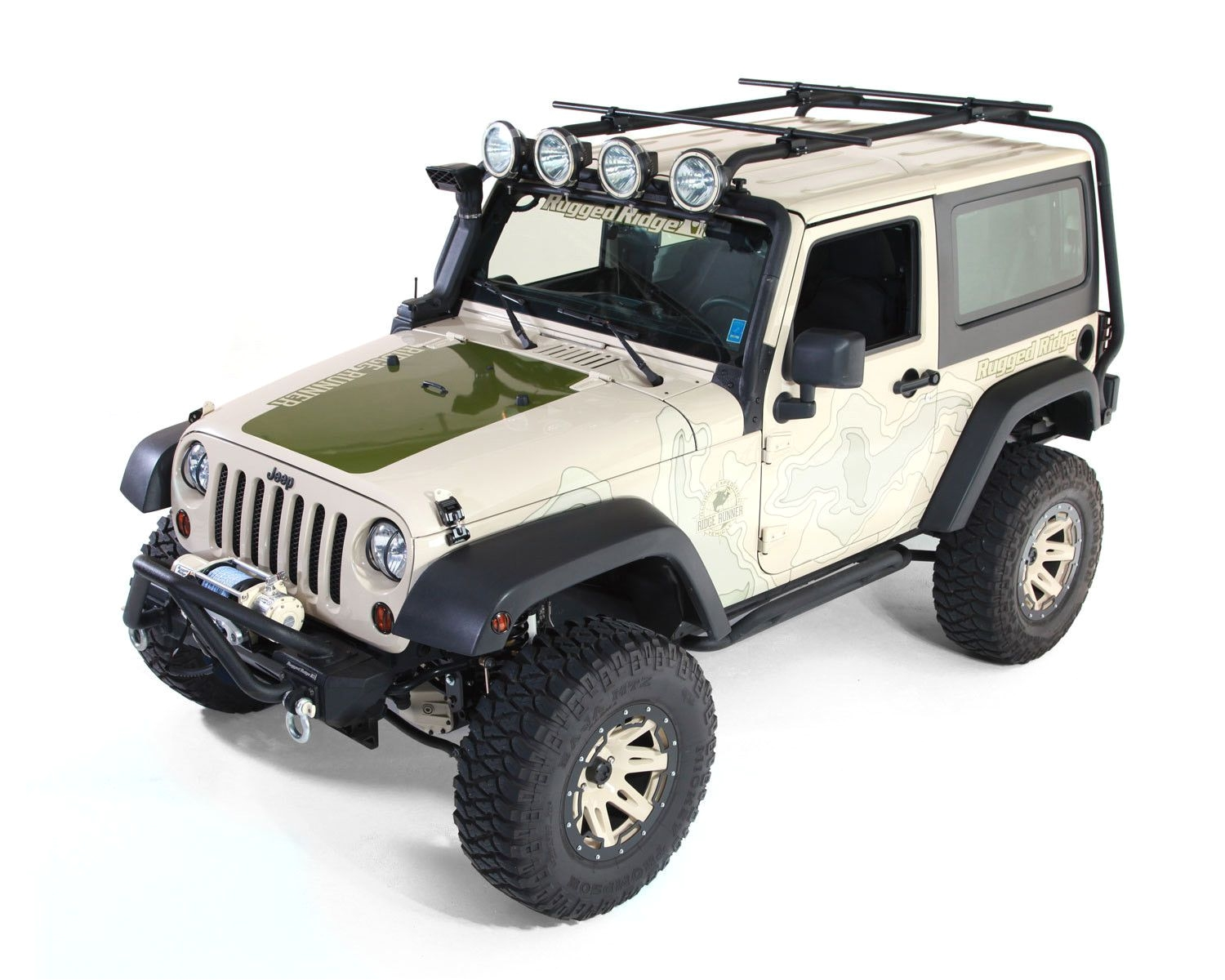 sherpa roof rack kit 2 door 07 16 jeep wrangler jk