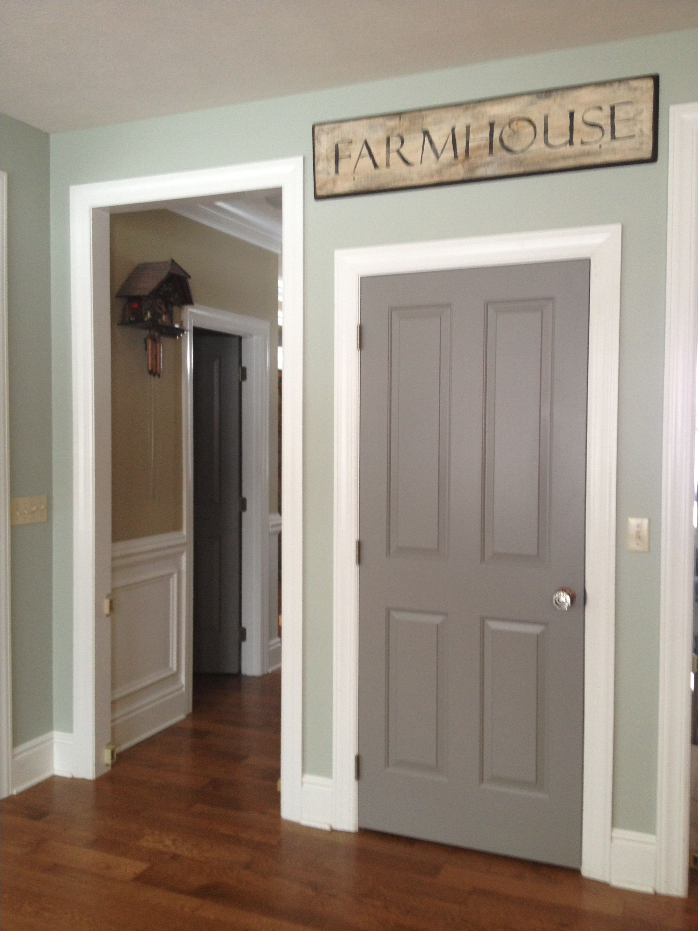 Best Paint for Interior Doors and Baseboards Sherwin Williams Dovetail Grey the Door Color is What I Would Like