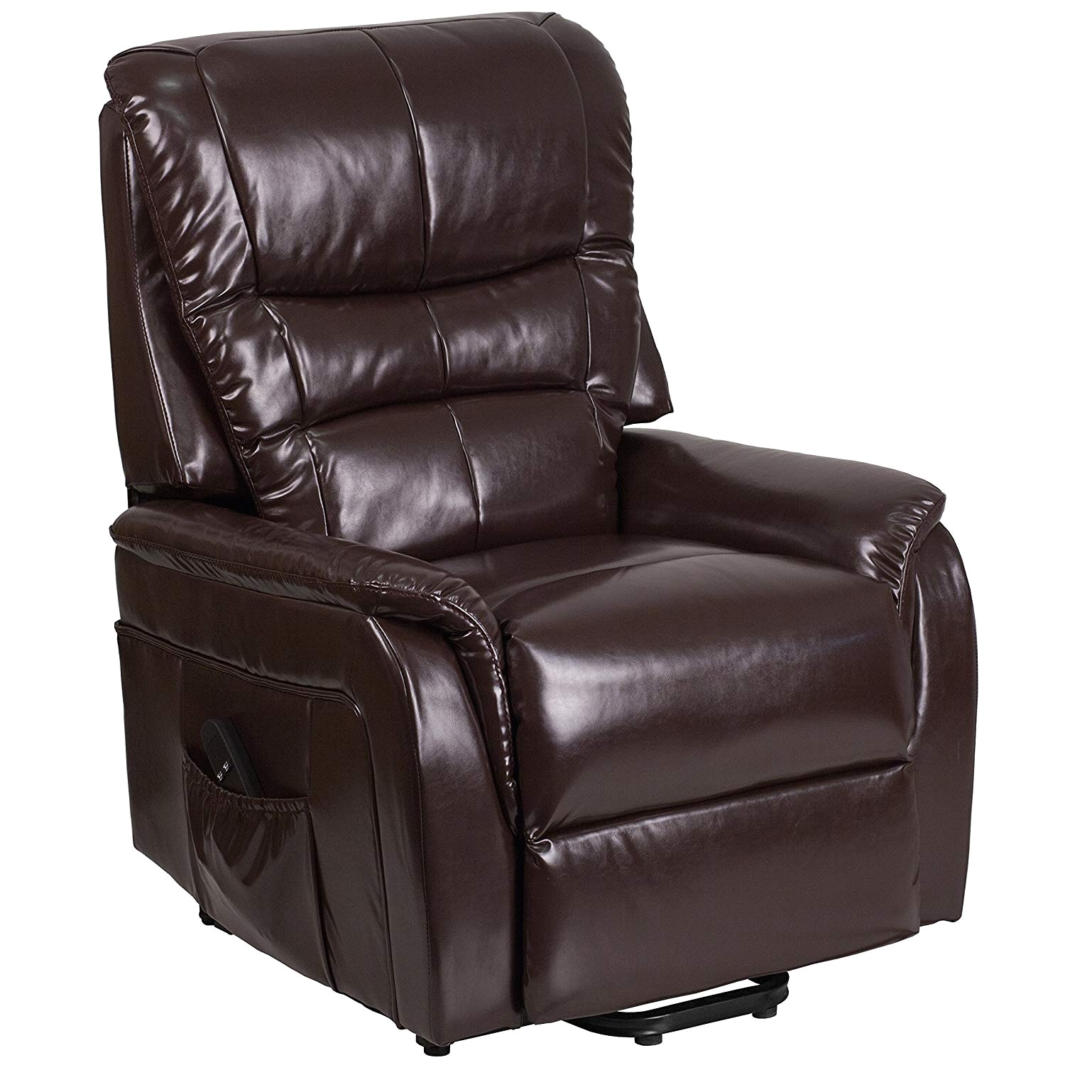 Best Rated Recliner Lift Chairs Amazon Com Flash Furniture Hercules Series  Brown Leather Remote