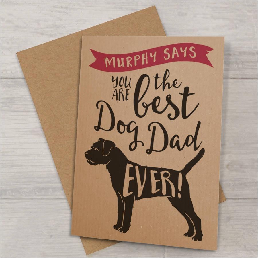 best dog dad ever card