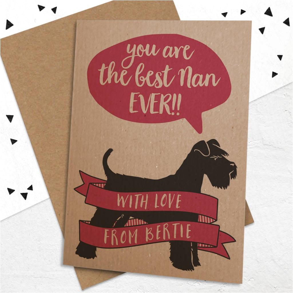 best grandma nanny nan etc card with dog