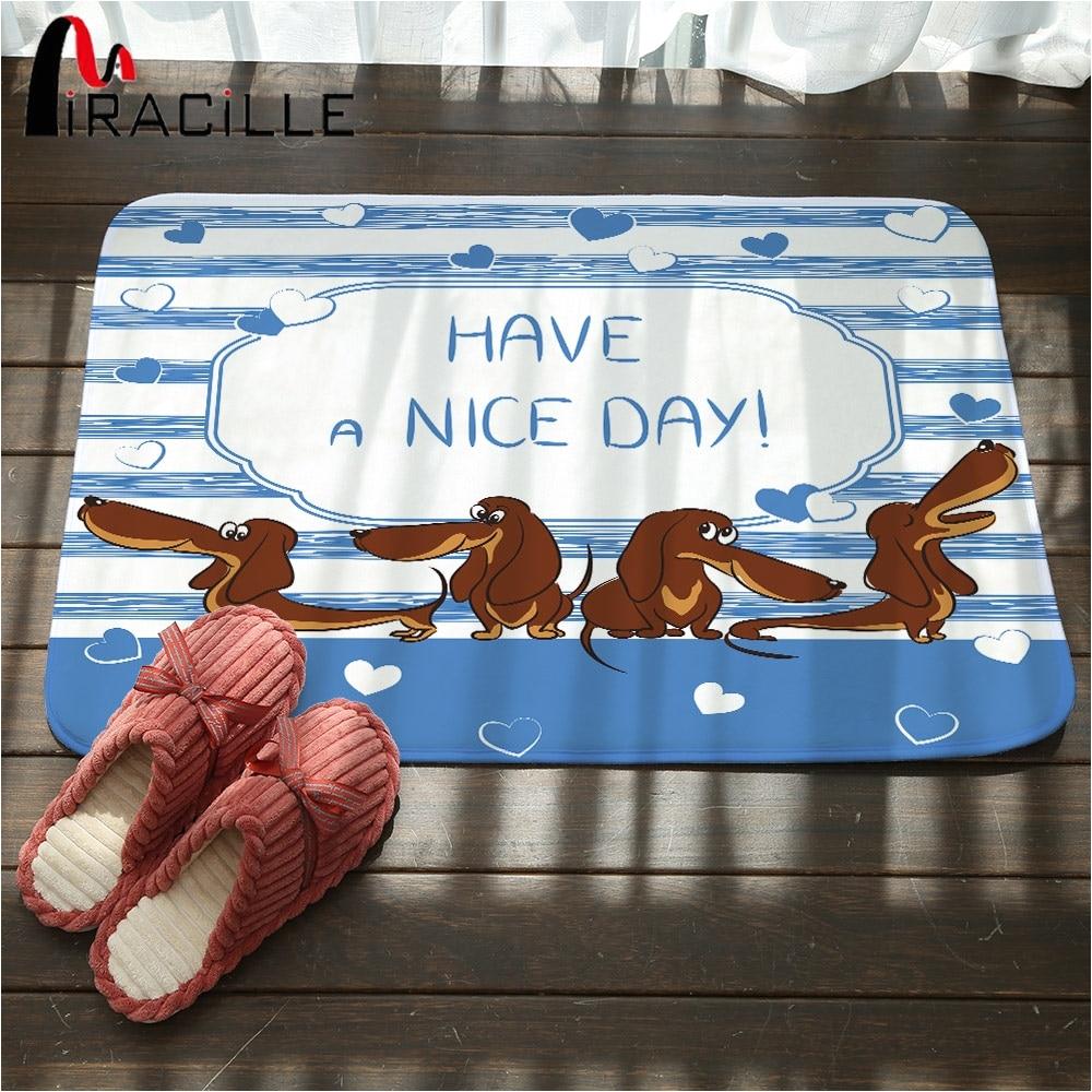 miracille lovely dachshund dog printed hallway carpet anti slip mat outdoor rugs front door mats bath mat kitchen floor mats in mat from home garden on