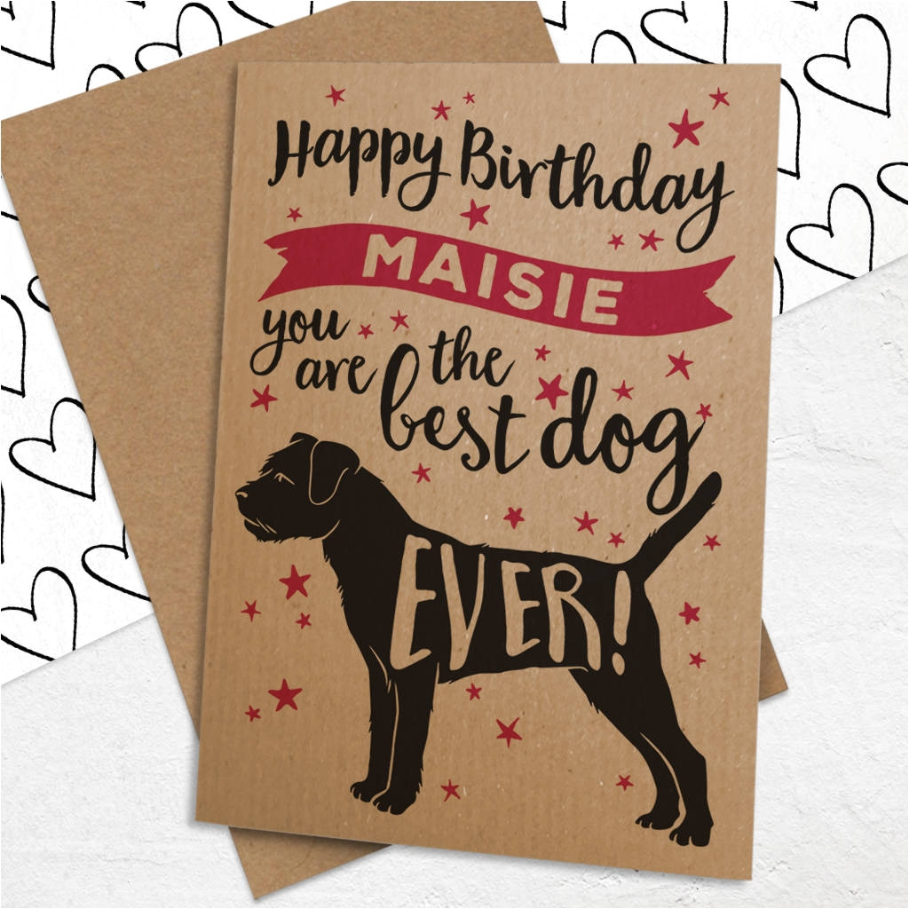 personalised best dog ever birthday card for dogs