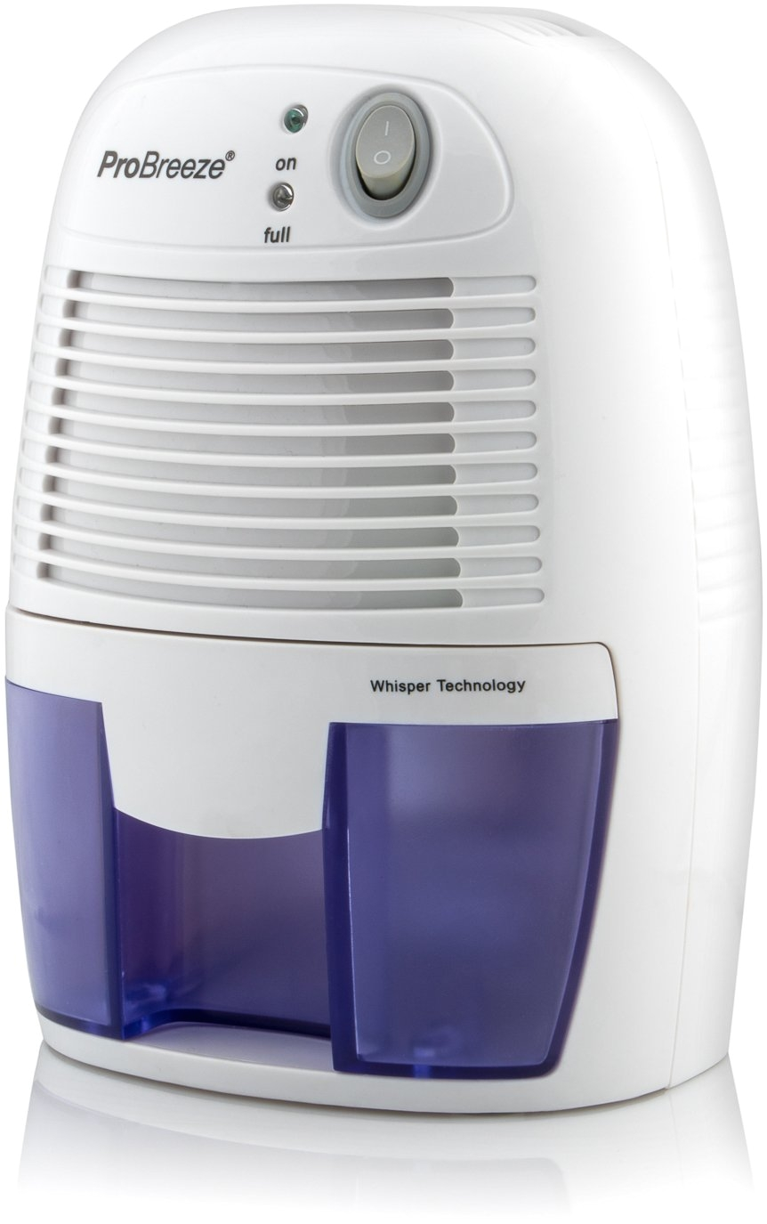 pro breeze 500ml compact and portable mini air dehumidifier for damp mould moisture in