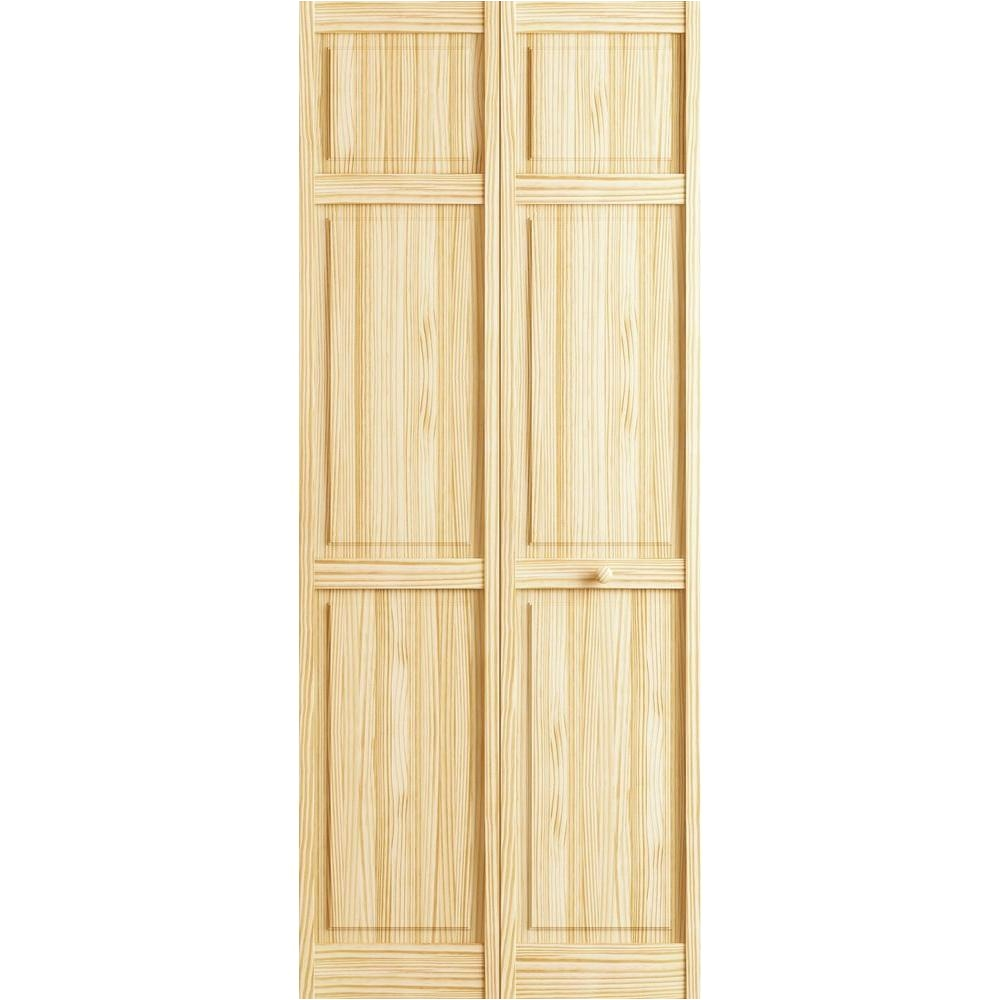 Bifold Interior Closet Doors Frameport 36 In X 80 In 6 Panel Pine  Unfinished Interior Closet