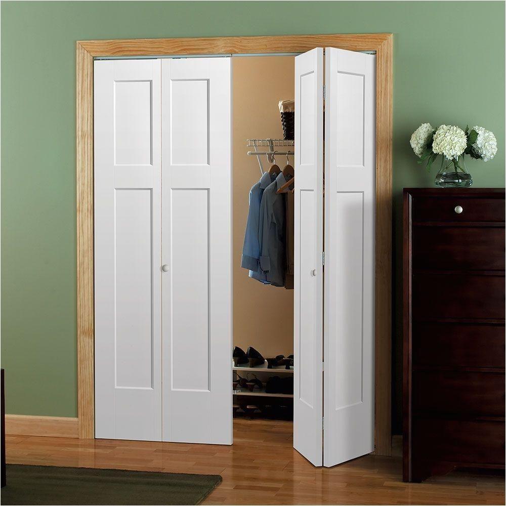 winslow primed 4 panel hollow core composite interior closet bi fold door 83182 the home depot