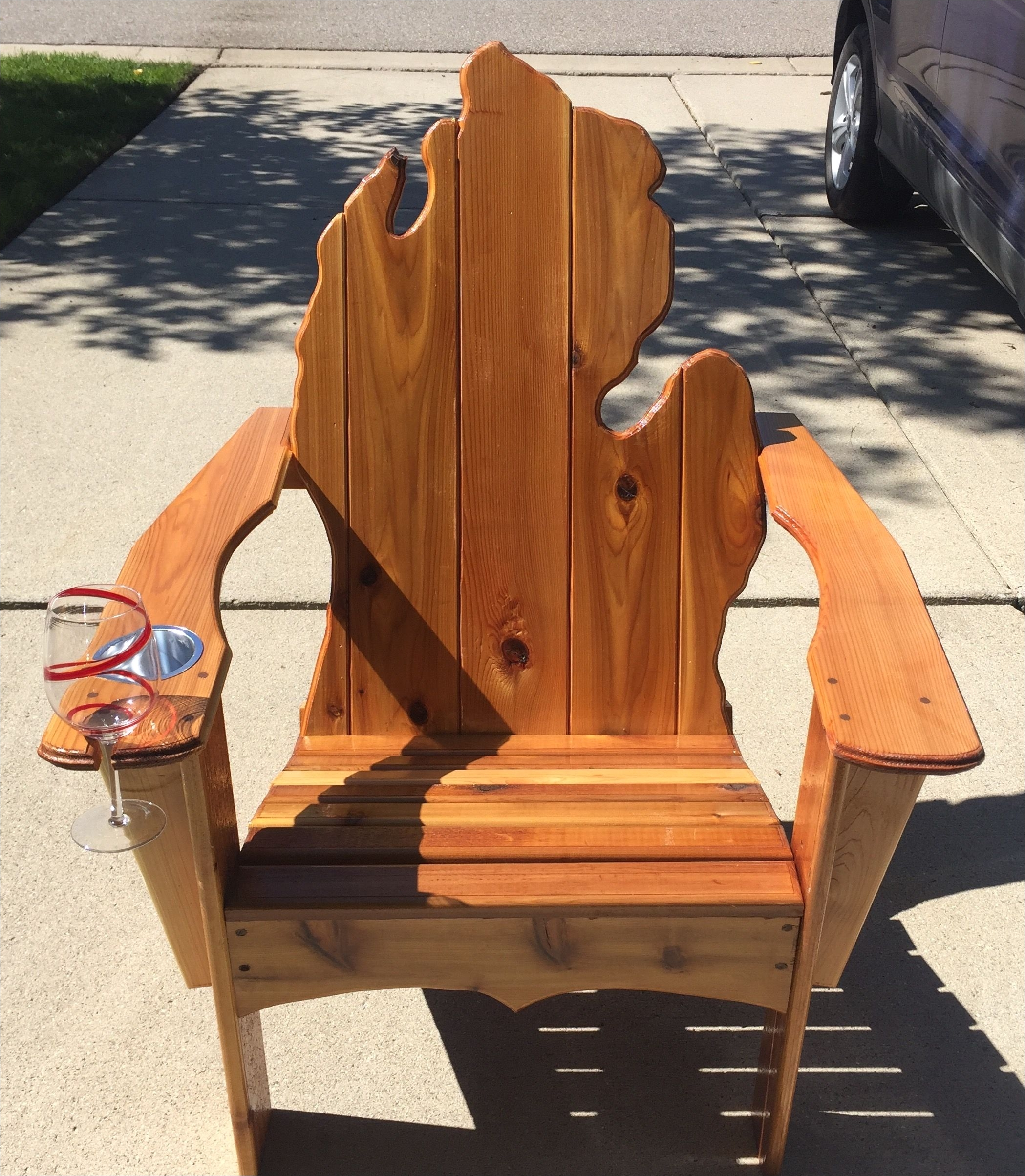Big and Tall Adirondack Chair Plans Michigan Adirondack Chair with Cup Holder and Wine Glass Slot I