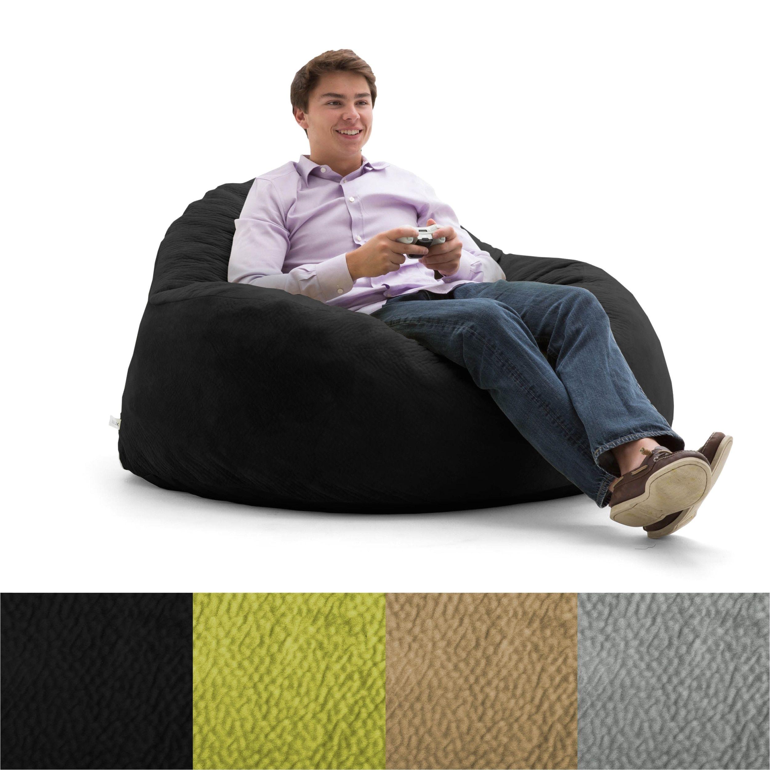 Big Bing Bag Chairs Fufsack Big Joe Lux Chillum Textured Memory Foam Bean Bag Chair