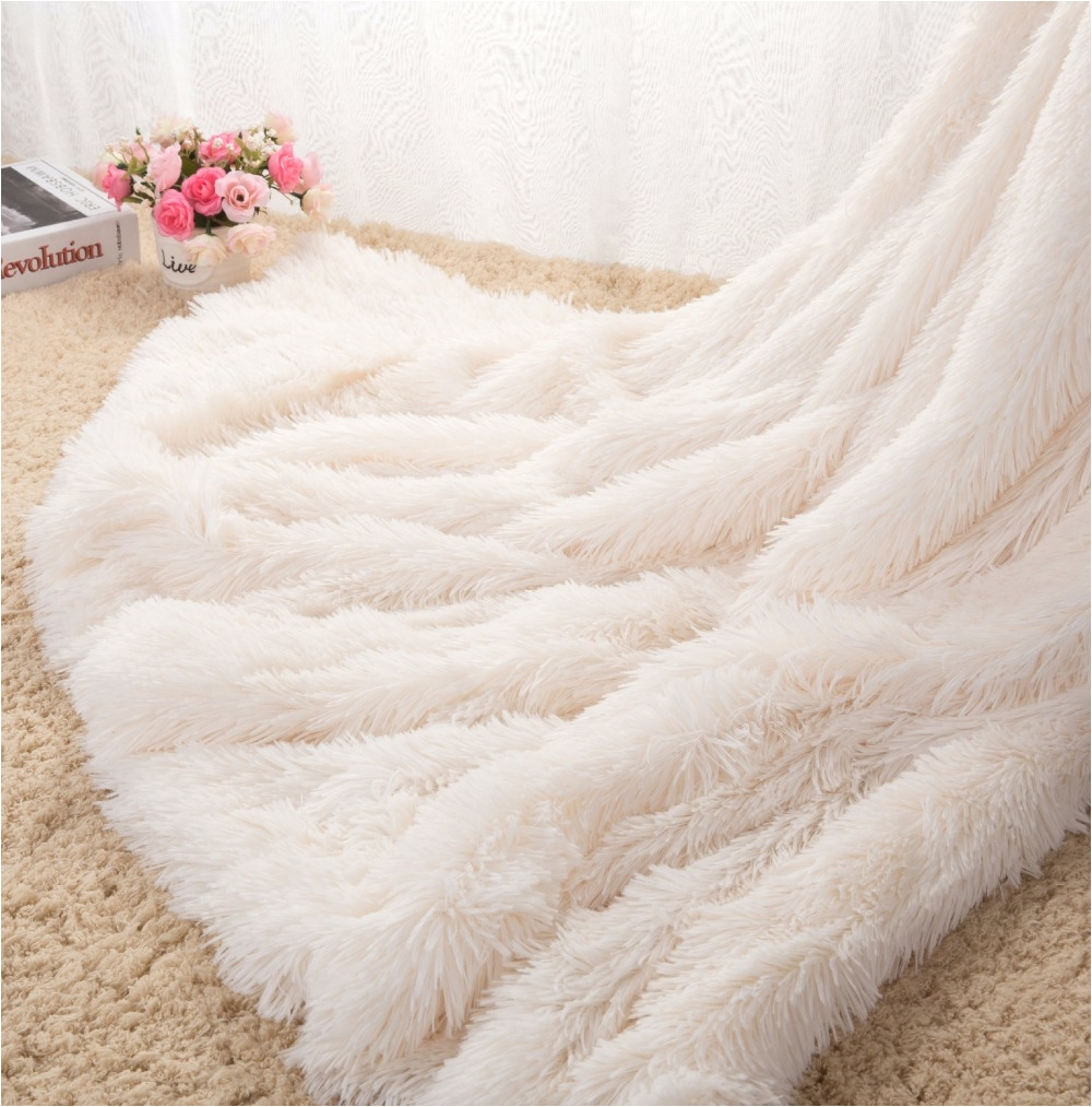 drop shipping sofa air bedding throw blankets mantas white pink grey fleece fluffy plush bedspread couverture polaire plaids in blankets from home garden