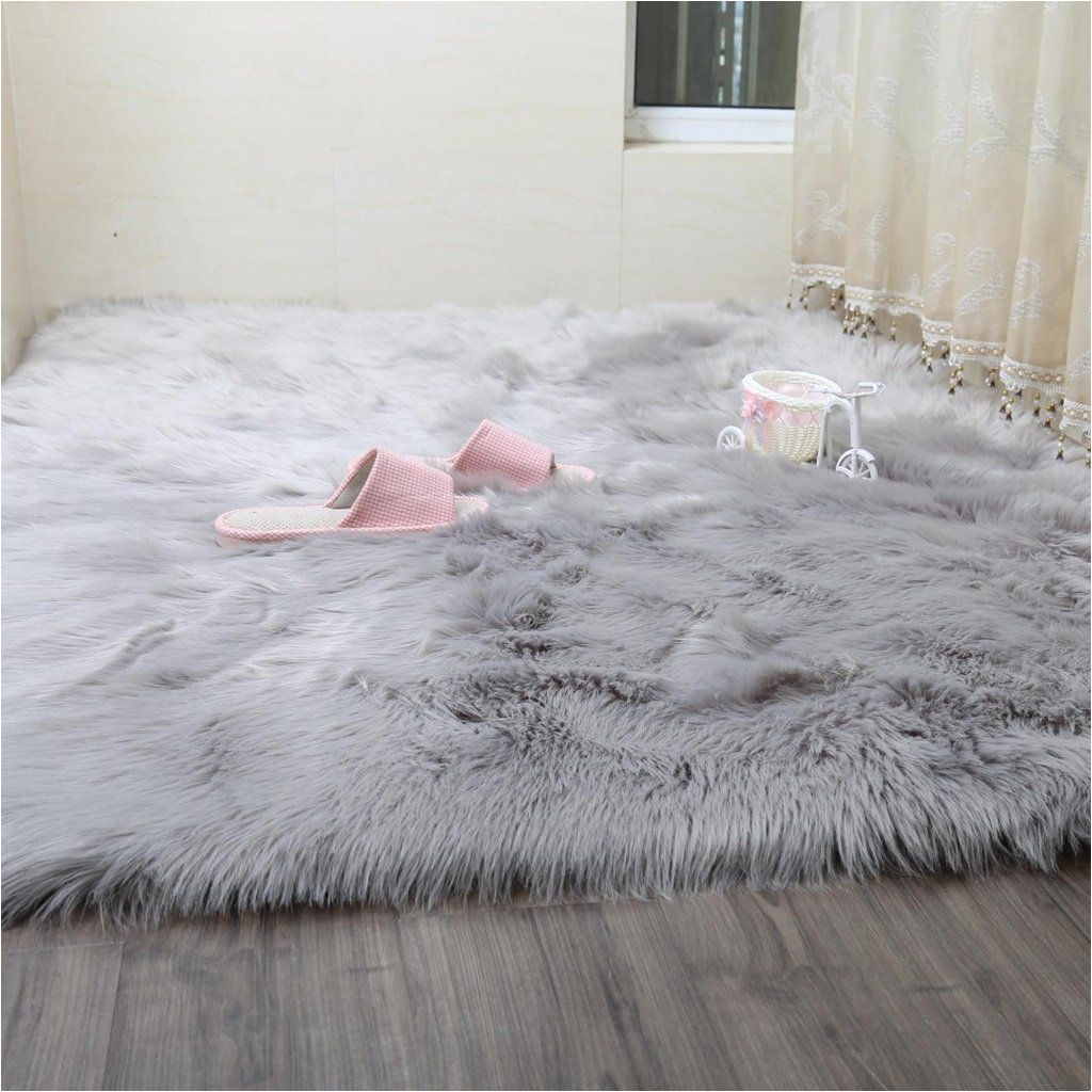 Big Pink Fur Rug Faux Rug soft Fluffy Rug Shaggy Rugs Faux Sheepskin Rugs Floor