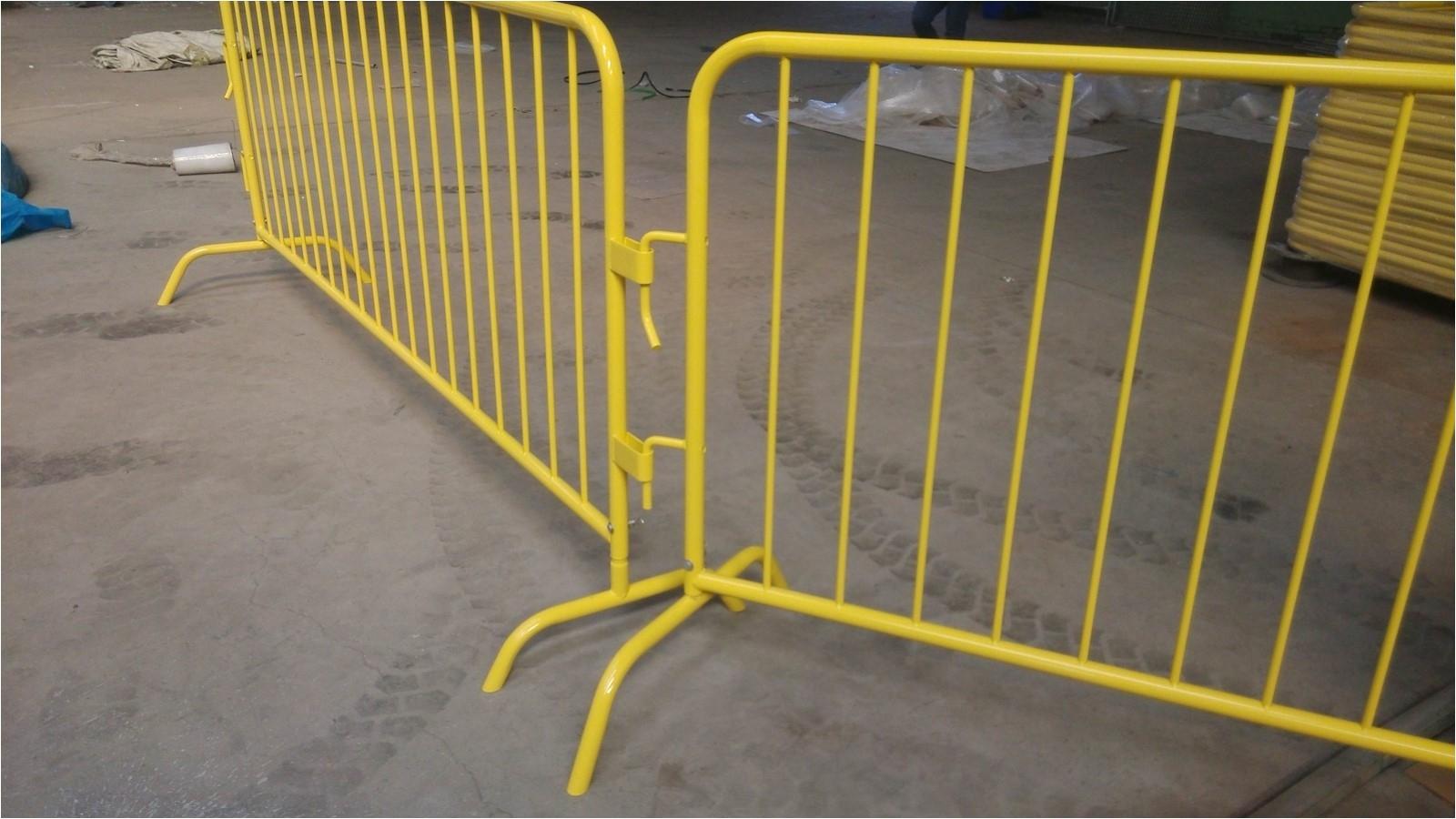 8metal galvanized steel bike rack crowd control barricade powder coated with bridge feet