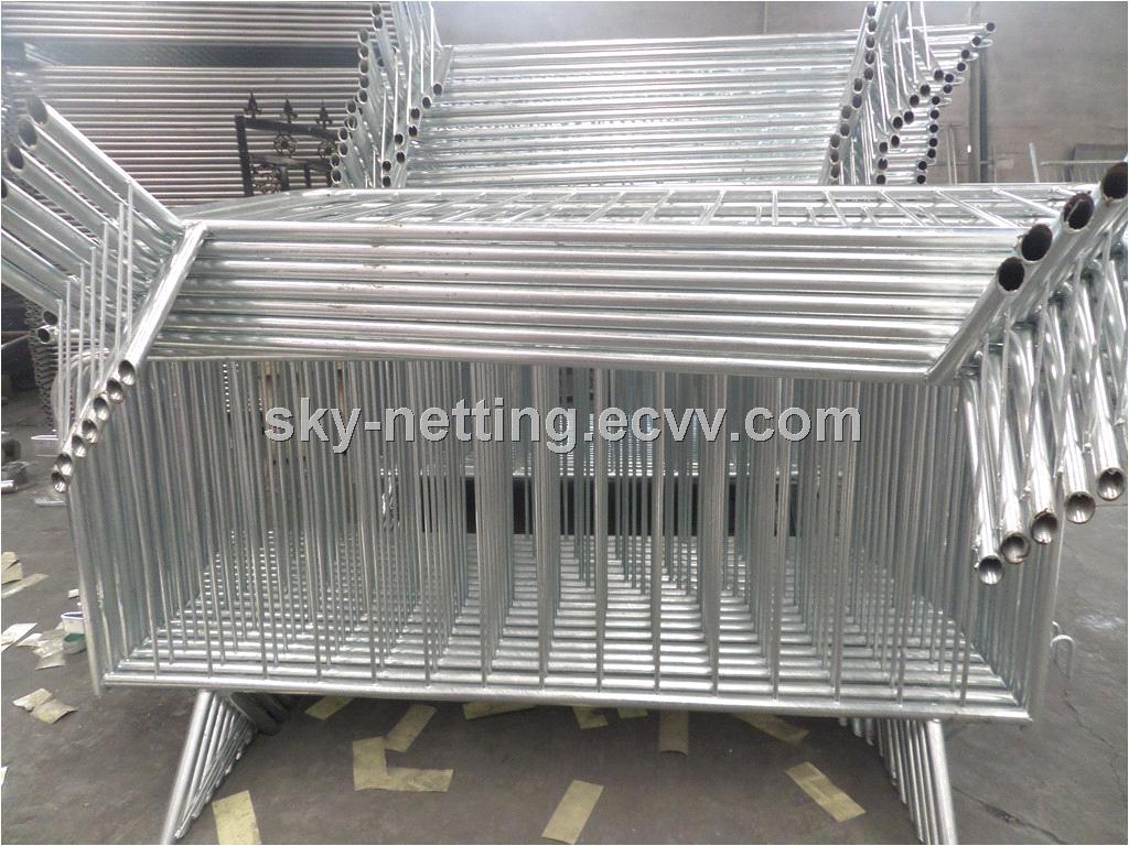 steel bicycle barricade rental pedestrian crowd control bike rack barrier