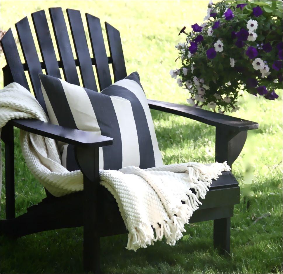 semi diy black adirondacks sophisticated summer decor