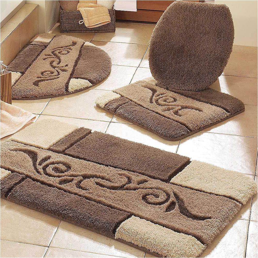 luxurious bathroom rugs