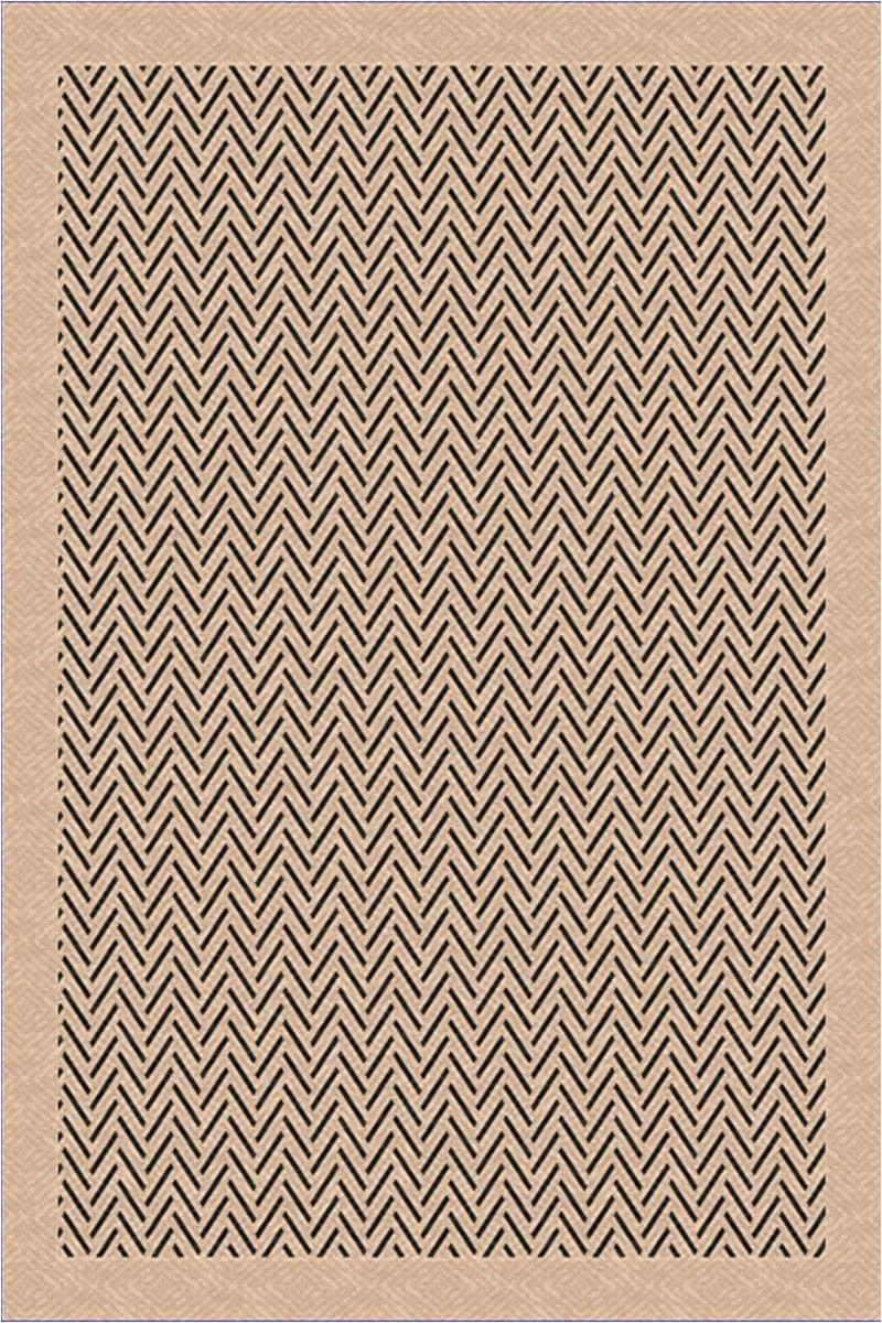 ims terrace collection herringbone chevron beige black outdoor area rug superarearugs