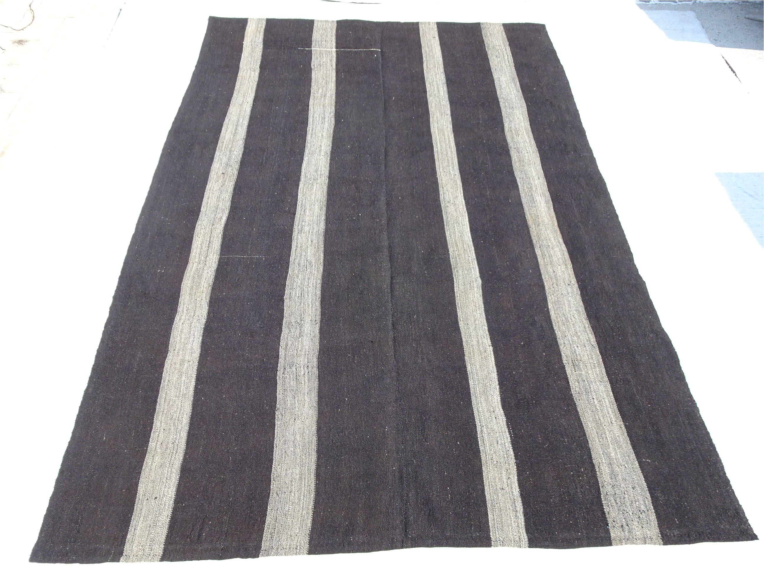 Black and White Kilim Rug Runner Oversize Gray and Black Kilim Rug 8 9 X12 9 Feet 267×388 Cm Natural
