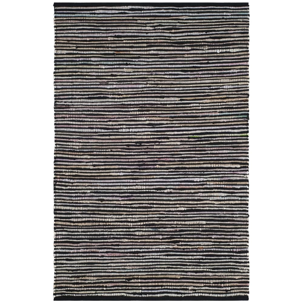 rag rug black multi 5 ft x 8 ft area rug
