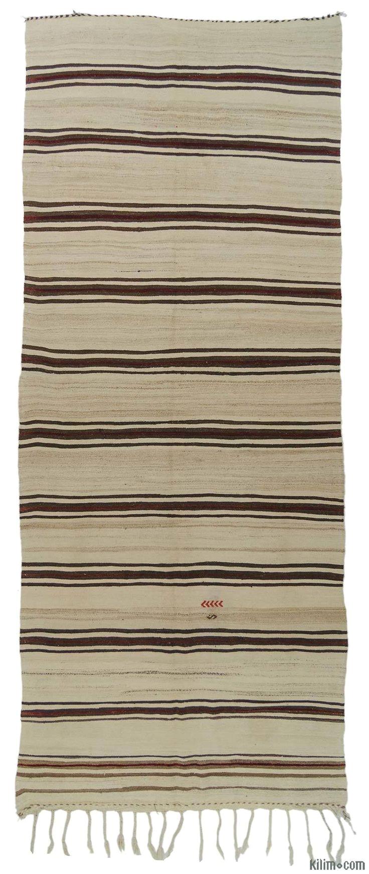 beige vintage turkish kilim rug
