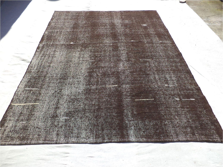 dark brown kilim rug 7 5 x10 5 feet 227x317 cm