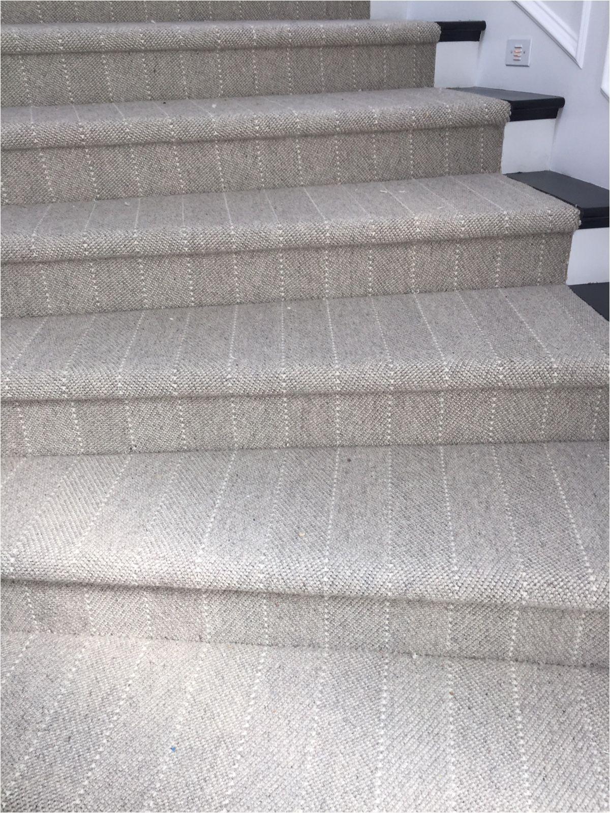 great looking neutral stripe stair runner