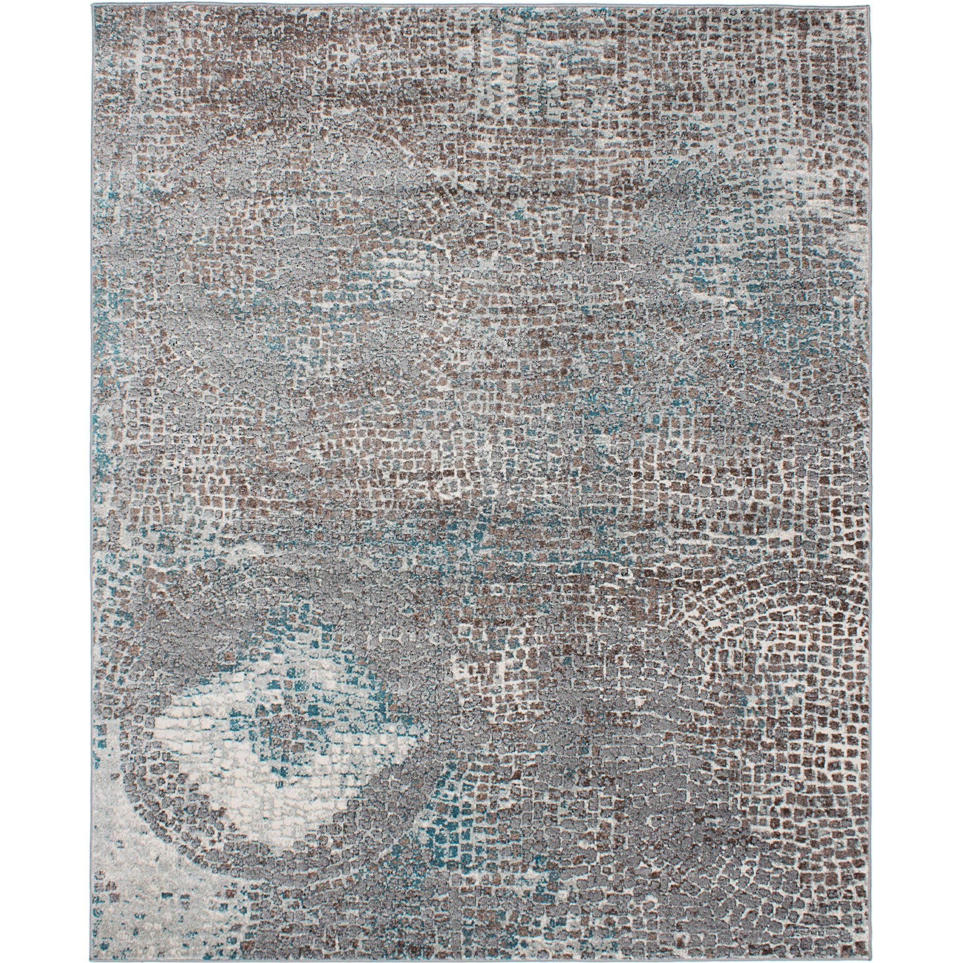 ecarpetgallery bardot brown and gray area rug 8 x 10 brown
