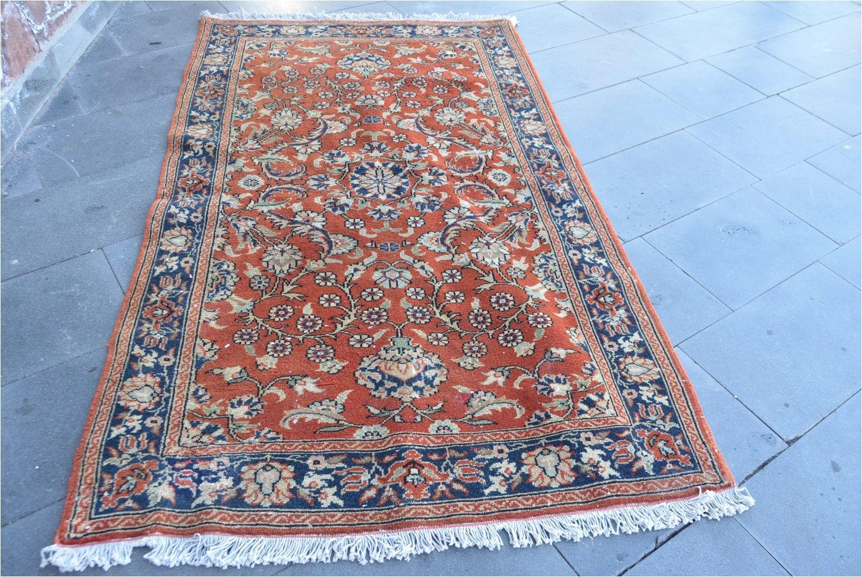flower pattern vintage oushak rug red and blue colors oushak rug free shipping vintage turkish rug 3 x 3 7 turkish rug code 2