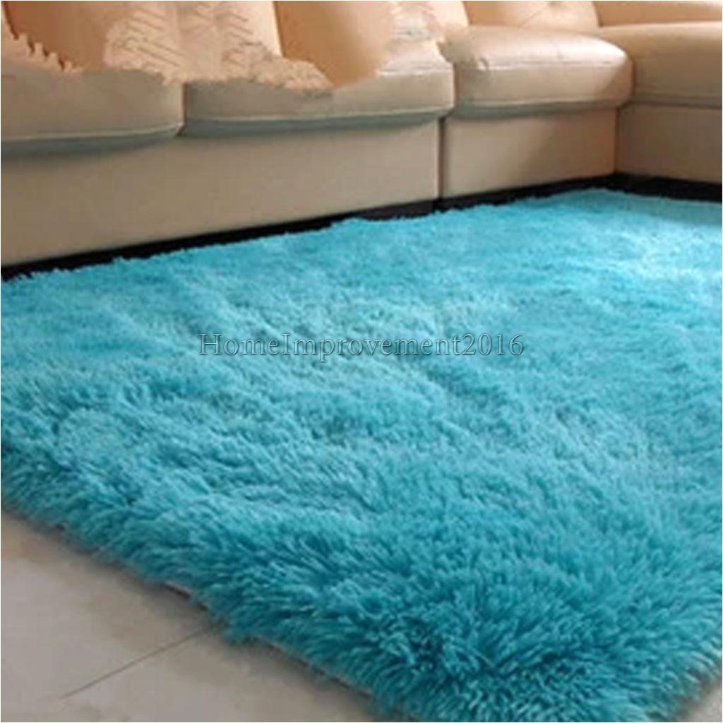 a 9 22 gbp luxury fluffy floor carpet soft rug room big footcloth corridor rug blue