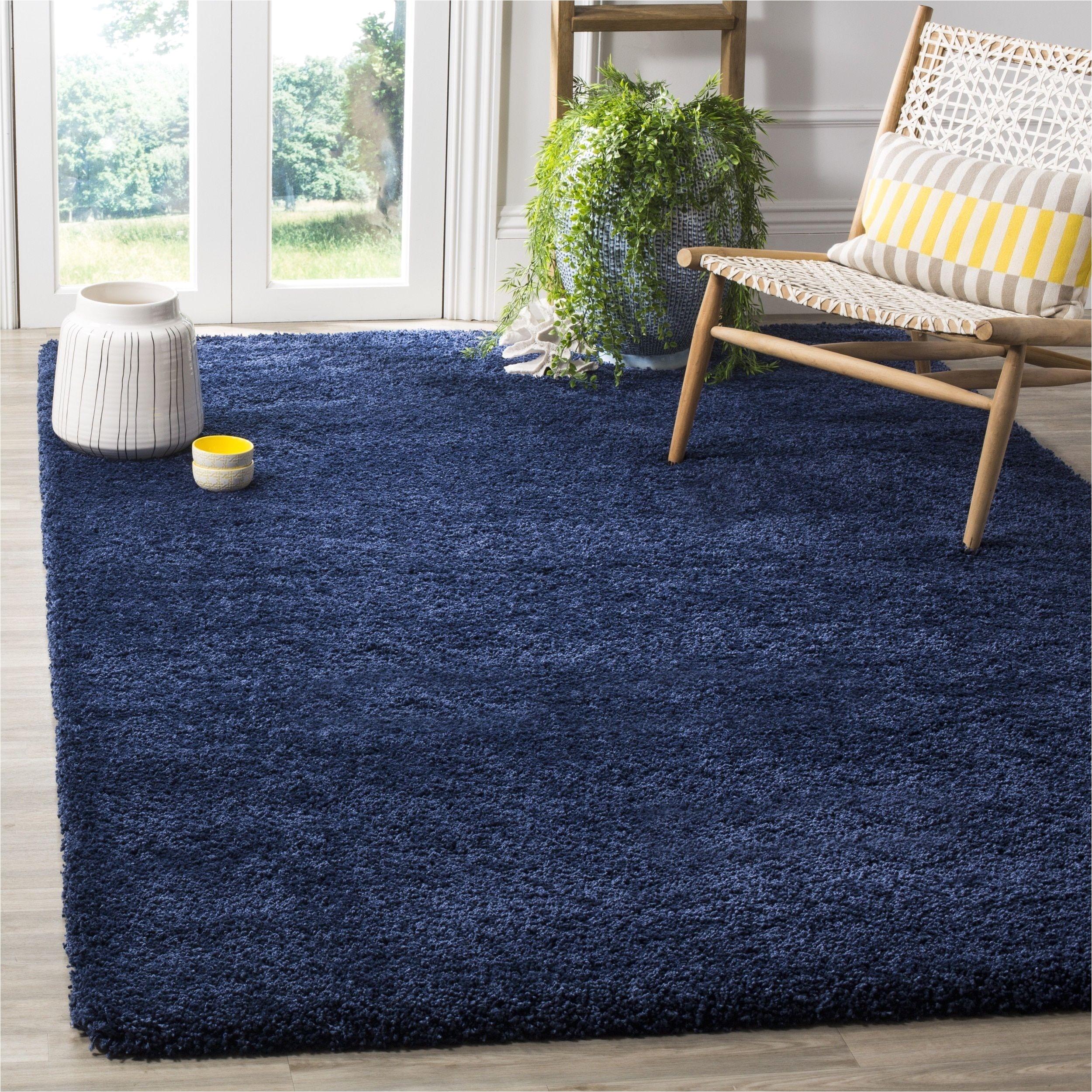 safavieh milan shag navy blue rug 5 1 square sg180 7070 5sq size 5 x 5 olefin solid