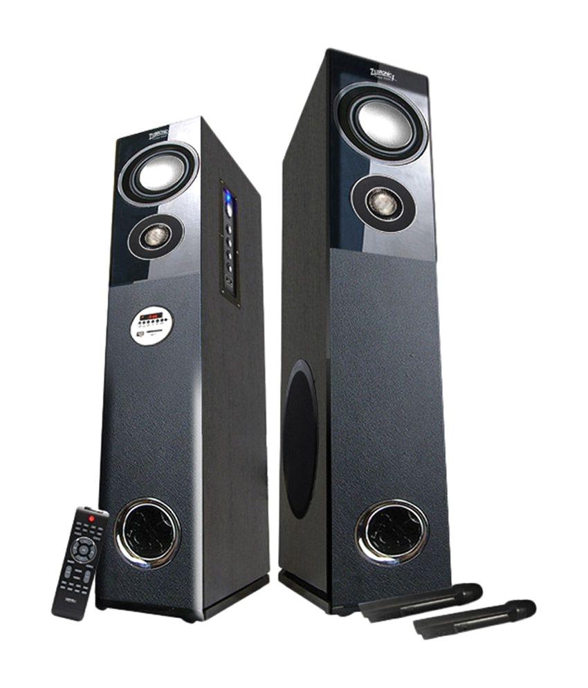 Bluetooth Floor Standing Speakers Buy Zebronics Zeb Bt7500rucf Floorstanding Speakers Black Online