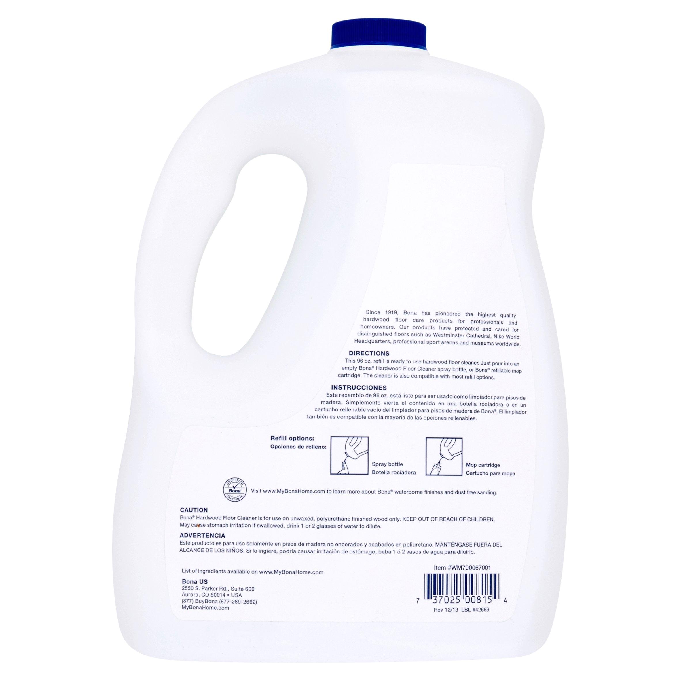 bona hardwood floor cleaner refill 96 fl oz walmart com